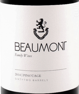 Pinotage - BEAUMONT - 2016 - Rouge