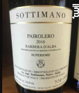 Barbera d'Alba Pairolero - Sottimano - 2016 - Rouge