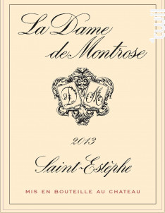La Dame de Montrose - Château Montrose - 2013 - Rouge