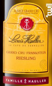 Riesling Grand Cru Frankstein - Louis Hauller - 2014 - Blanc