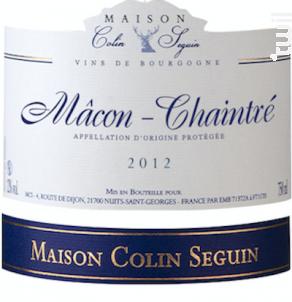 Mâcon Chaintré Terroir - Maison Colin Seguin - 2012 - Blanc