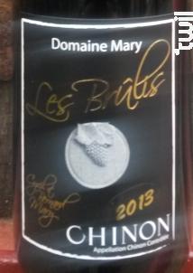 Les Brûlis - Domaine Mary - 2016 - Rouge