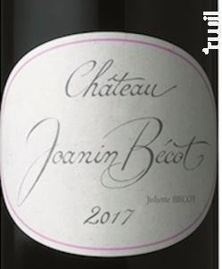 Joanin Bécot - Castillon-côtes De Bordeaux - Château Beau-Séjour Bécot - 2018 - Rouge