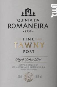 Quinta Da Romaneira Fine Tawny - QUINTA DA ROMANEIRA - Non millésimé - Rouge