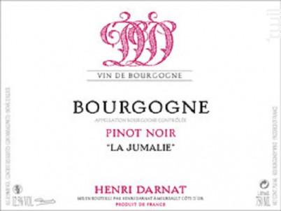 Bourgogne Pinot Noir La Jumalie - Domaine Henri Darnat - 2017 - Rouge