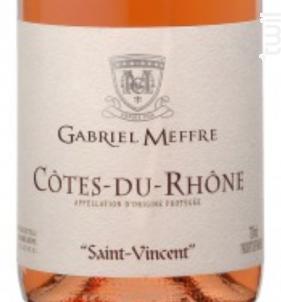 Saint Vincent - Maison Gabriel Meffre - 2017 - Rosé