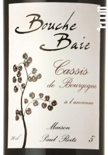 Bouche Baie Cassis - Maison Paul Reitz - Non millésimé - Rouge