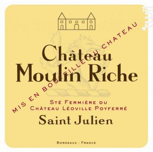 Château Moulin Riche - Château Léoville Poyferré - 2014 - Rouge