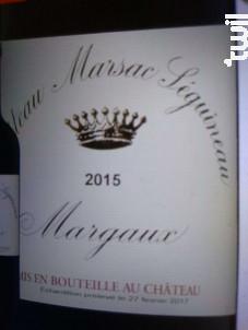 Château Marsac Séguineau - Château Marsac Séguineau - 2016 - Rouge