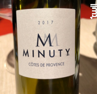 M Blanc - Château Minuty - 2018 - Blanc