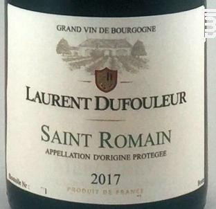 Saint-Romain - Maison L. Tramier et Fils - 2017 - Blanc