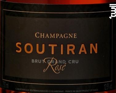 Cuvée Rosé de Saignée - Champagne A. Soutiran - Non millésimé - Effervescent