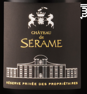 Château de Sérame cuvée réserve - Château de Sérame - 2017 - Rouge