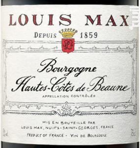 Bourgogne Hautes-Côtes-de-Beaune - Louis Max - 2017 - Rouge