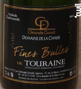 Fines Bulles - Domaine de la Chaise - Non millésimé - Effervescent