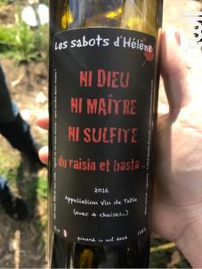 Ni Dieu Ni Maître Ni Sulfite - Les Sabots d'Hélène - 2016 - Rouge