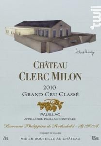 Château Clerc Milon - Château Clerc Milon - 2010 - Rouge