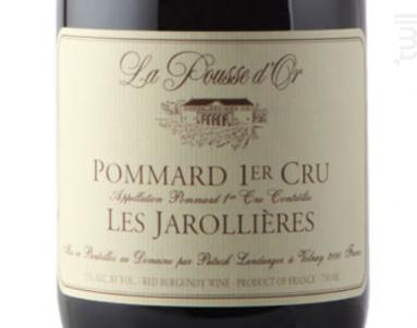 POMMARD 1er cru Les Jarrolières - Domaine de la Pousse d'Or - 2015 - Rouge