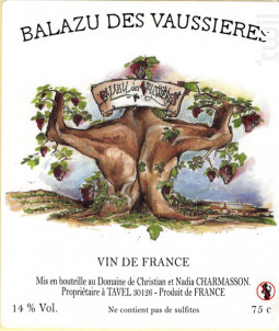 Cuvée Camomille - Balazu des Vaussieres - 2011 - Rouge