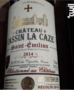 Château Cassin La Caze - Cuvée des Templiers - Vignobles Cassin - Château la Caze - 2014 - Rouge