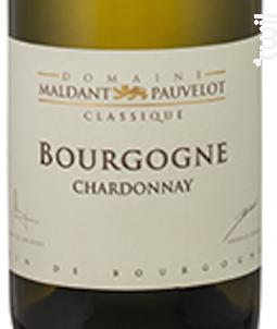 BOURGOGNE CHARDONNAY - Domaine Maldant - Pauvelot - 2016 - Blanc