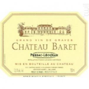 Château Baret - Château Baret - 2012 - Rouge