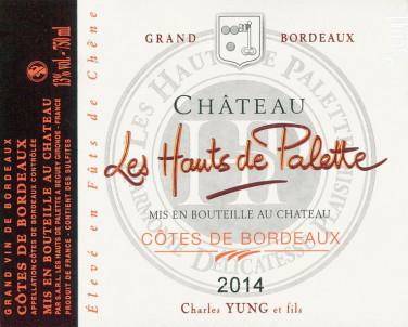 Château les Hauts de Palette - Les Hauts de Palette - Château les Hauts de Palette - 2014 - Rouge