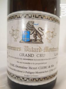 Bienvenues-Bâtard-Montrachet Grand Cru - Domaine Henri Clerc et Fils - 1991 - Blanc