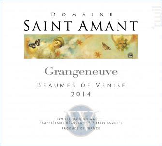 GRANGENEUVE - Domaine Saint Amant - 2015 - Rouge
