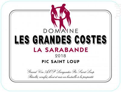 La Sarabande - LES GRANDES COSTES - 2018 - Rouge
