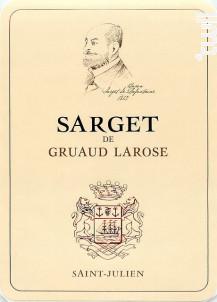 Sarget de Gruaud-Larose - Château Gruaud-Larose - 2015 - Rouge