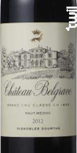 Château belgrave - Château Belgrave - 2012 - Rouge