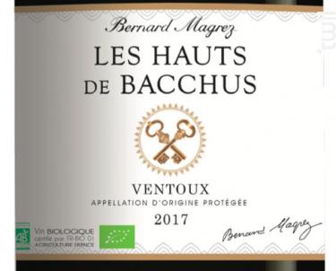 Les Hauts de Bacchus - Bernard Magrez - 2017 - Rouge