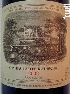 Château Lafite Rothschild - Domaines Barons de Rothschild - Château Lafite Rothschild - 2002 - Rouge
