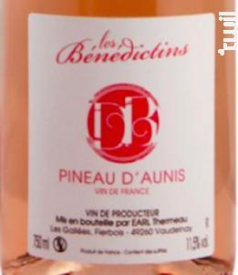 Pineau d'Aunis - Domaine des Bénédictins - Non millésimé - Rosé