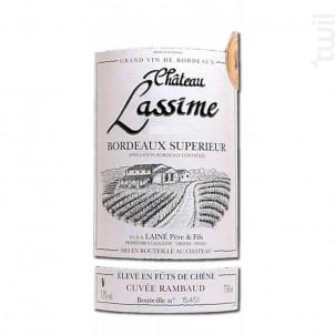 Cuvée Rambaud - Château Lassime - 2014 - Rouge