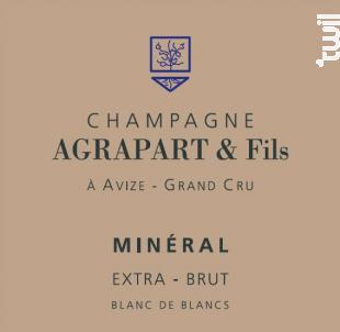 Minéral Extra Brut Blanc de Blancs Grand Cru Millésimé - Champagne Agrapart et Fils - 2007 - Effervescent