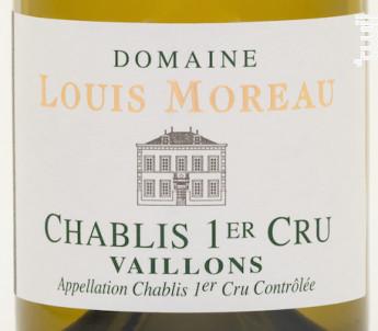Chablis, 1er cru, Vaillons, L'Elégance - Domaine Louis Moreau - 2016 - Blanc
