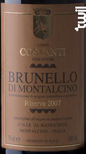 Brunello di Montalcino Riserva - Conti costanti - 2012 - Rouge