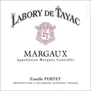 Labory de Tayac - Château Tayac - 2011 - Rouge