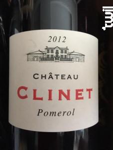 Château Clinet - Château Clinet - 2012 - Rouge