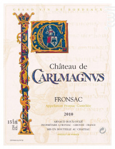 Château Carlmagnus - Château Carlmagnus - 2017 - Rouge