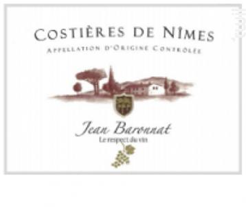 Costières de Nîmes - Baronnat Jean - 2015 - Rouge