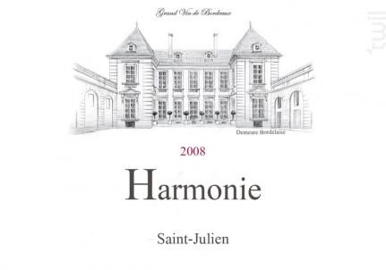 HARMONIE - Cuvelier & Fils - 2008 - Rouge