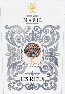 Les Rieux - Domaine Marié - 2018 - Rouge