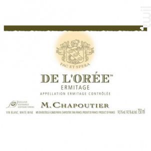 De L'Orée - M. Chapoutier - 2014 - Blanc
