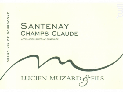 Santenay Champs Claude - Domaine Muzard Lucien et Fils - 2017 - Blanc
