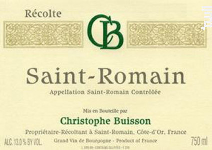 Saint-Romain - Domaine Christophe Buisson - 2011 - Blanc