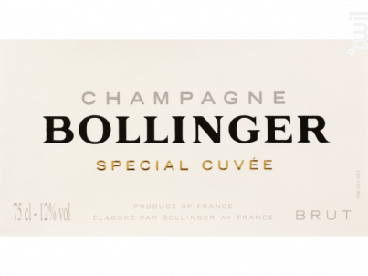 Bollinger Special Cuvee Brut + Etui - Champagne Bollinger - Non millésimé - Effervescent