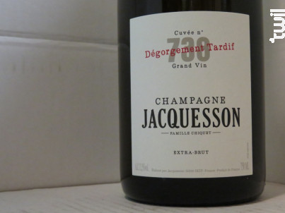 Cuvée  738 - Dégorgement Tardif - Champagne Jacquesson - Non millésimé - Effervescent